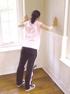 Pregnancy Exercise Demonstrations: Corner Stretch