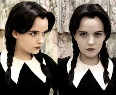Wednesday Addams: Makeup Test by *Hopie-chan on deviantART