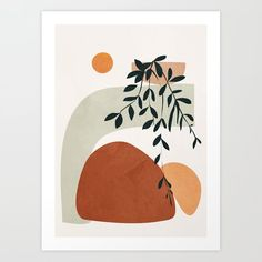 Soft Shapes I Framed Mini Art Print by City Art - White - x City Art, Art Inspo, Art Paintings, Bedroom Paintings, Painting Walls, Watercolor Art, Modern Art, Modern Prints, Art Projects