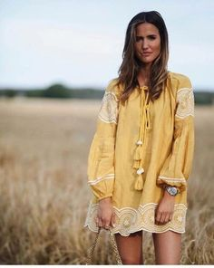 Gypsy inspired maple tunic dress