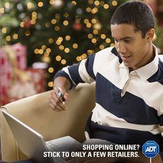Shopping at more retailers means more of your personal information floating around #online. #HolidaySafety #ShoppingTip #Gifting #ADT #AlwaysThere