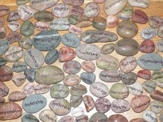 Character Rocks! Here's an affordable way to have these inspirational rocks in your office!