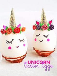 Unicorn Easter Eggs #unicorn #Easter #DIY #EasterEggs