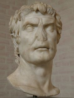 """So-called bust of Sulla, Augustan copy of an original of the late 2nd century B.C., Glyptothek, Munich  So-called """"Sulla"""", free copy (probab..."""