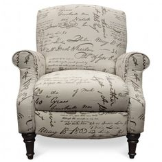 LANE CHLOE SCRIPT HI-LEG RECLINER - HOUSTON RECLINING LAZYBOY | Gallery Furniture - Houston, TX