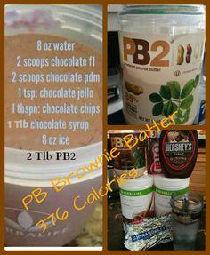 Peanut Butter Brownie Batter Shake #Herbalife #recipes