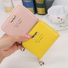 86a226f425bf4 New Fashion Design Women Coin Case Cute Hot Wallet Bifold Short Mini Zipper  Around Purse PU Leather Good Quality Coin Pouch