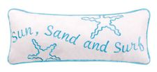 Sun Sand and Surf Throw Pillow   OceanStyles.com