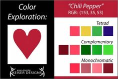 Eva Maria Keiser Designs: Explore Color: Chili Pepper