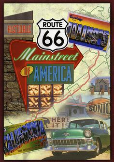 postcard - Route 66 by Jassy-50, via Flickr