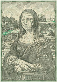 """""""The Money Lisa"""" - Made of money - Pictures - CBS News"""