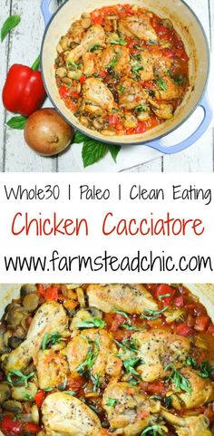 This Whole30 chicken cacciatore recipe is a quick, simple, one-pot wonder, tasting divine with chicken cooked to perfection amid wonderfully savory veggies.
