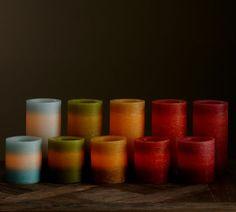 Ombre Flameless Wax Pillar Candle