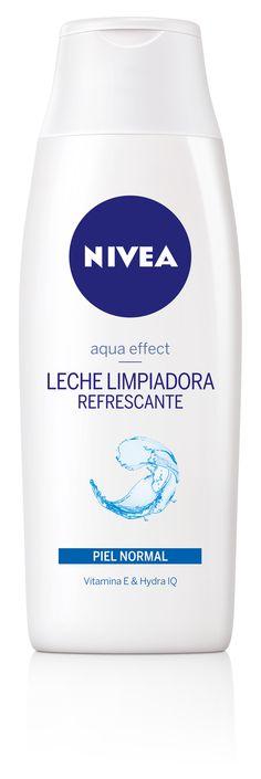 Leche Limpiadora Refrescante  Aqua Effect. Limpia en profundidad la piel y mantiene el equilibrio natural de hidratación de las pieles normales y mixtas.