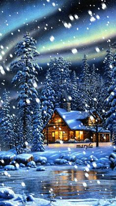 Animated Images Of A Snowing City At Christmas Merry Christmas Gif, Christmas Scenes, Christmas Art, Beautiful Christmas, Winter Christmas, Winter Images, Winter Pictures, Vintage Christmas Photos, Christmas Pictures