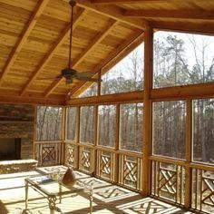 Cedar Screened Porch Interior Screen Porch Uses A