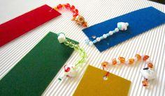 Marcapáginas sobre papel de acuarela / Bookmarks on watercolor paper