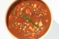Slow Cooker Vegetable and Barley Soup - Great to warm you up on a cold day!  www.GetCrocked.com