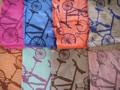 Light scarves - bicycles.