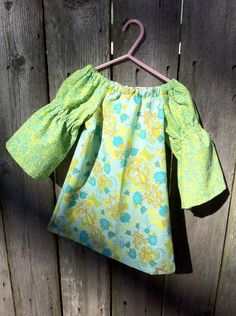 Little Girl's Peasant Dress Sizes 5 6 7 8 9 10 by vintagetwilight