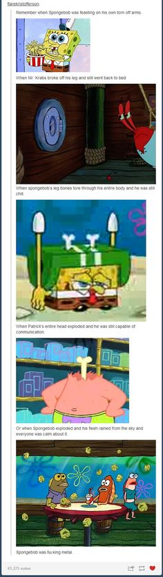 23 of the funniest things Tumblr's ever said about Spongebob Squarepants