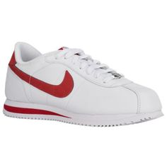 nike cortez with red swoosh