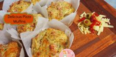 Omg these Delicious Pizza Muffins are absolutely the best savoury muffins you will ever put in your mouth. My kids devour them in no time when I make a batch of these at home. Lunch Box Recipes, Breakfast Recipes, Lunchbox Ideas, Picnic Recipes, Savoury Baking, Savoury Cake, Cooking Bread, Cooking Recipes, Vegetable Muffins