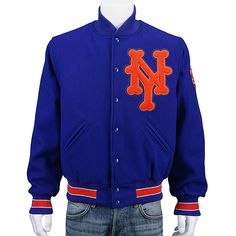 New York Mets Authentic 1969 Wool Jacket by Mitchell & Ness