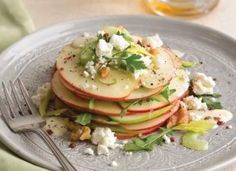 Stacked Waldorf Salad with Creamy Apple-Cider Vinaigrette