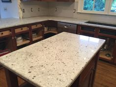 My Granite I Used Was Colonial White. I Used Crowe Custom Countertops In  Acworth GA