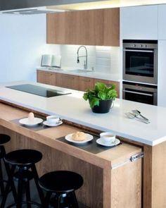 inspiring modern scandinavian kitchen design ideas - page 29 Kitchen Sets, Home Decor Kitchen, Interior Design Kitchen, New Kitchen, Home Kitchens, Small Kitchens, Kitchen Things, Kitchen Decorations, Interior Modern