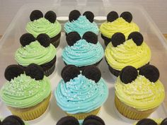 Baby Mickey Mouse inspired cupcakes