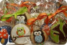 cookie favours for a woodland party