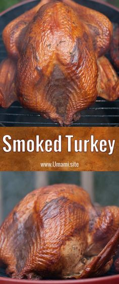 Fresh herbs and hickory smoke come together to produce a tender and delicious smoked turkey. This tasty smoked turkey recipe highlights the turkey's flavors while keeping it moist and juicy. #turkey #recipes #smoked