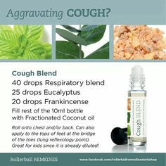 Cough rollerball blend