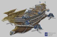Airship by Charles Lee