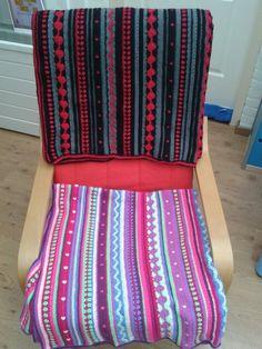 Twee zelfgemaakte dekens dutch crochet along 2014 (juftal)