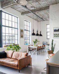 0 amenager une chambre en longueur idee deco salon canape en cuir marron clair grande table rectangulaire avec chaises