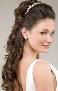 1/2 up do for wedding | ... half up half down hairstyle with curls for rustic country weddings