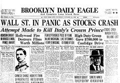 1929: The Great Stock Market Crash marks the end of the Roaring 20s, catapulting the US into a state of turmoil.
