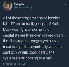 Not that Marx was right about communism, but he's not wrong about this. Intersectional Feminism, We Are The World, Faith In Humanity, Social Issues, Social Justice, Thought Provoking, Food For Thought, Real Talk, Equality