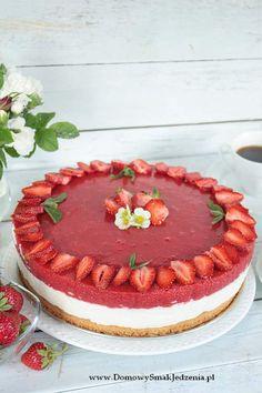 torcik z mascarpone i musem truskawkowym Sweet Recipes, Cake Recipes, Dessert Recipes, Desserts, Food Cakes, Cupcake Cakes, Summer Cakes, Polish Recipes, Pretty Cakes