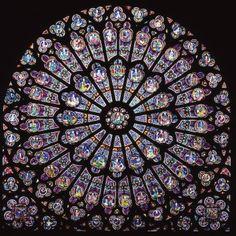 North rosette, Notre-Dame de Paris, France