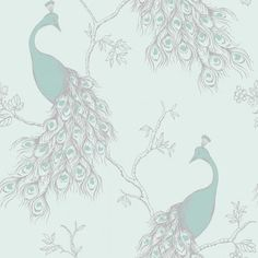 Fine Decor Peacock Empire Teal / Duck Egg (FD40713) - Fine Decor from I love wallpaper UK