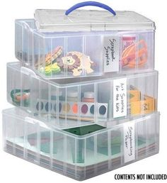 Snapware Snap 'N Stack Large Square 3 Layers 4 Dividers