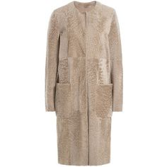 Max Mara Suede and Shearling Coat (€2.035) ❤ liked on Polyvore featuring outerwear and coats