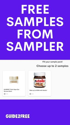 SCORE FREE SAMPLES FROM SAMPLER! Update: Answer the questions and see if they offer you any new samples. I just got 2 new samples!