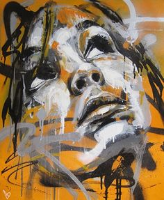 Vibrant spray paint portraits by David Walker