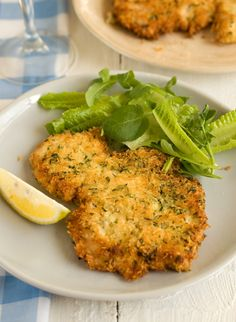 Parmesan Chicken - Ina Garten  (The light breading would be a perfect use for a piece of my l/o gluten free bread.)