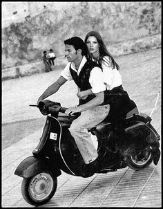 Vespa PK with Kate Moss as an accessorie.
